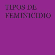 TIPOS DE FEMINICIDIO
