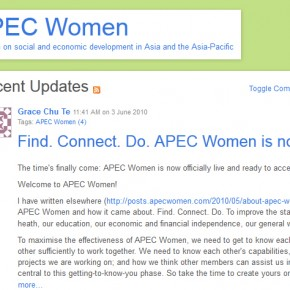 APEC Women - Women on social and economic development in Asia and the Asia-Pacific