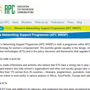 APC. Asociación para el Progreso de las Comunicaciones - Women's Networking Support Programme