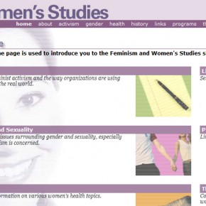 Feminism and Women's Studies site
