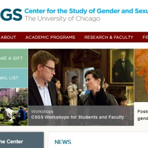 Plataforma de la Universidad de Chicago, Center for Gender Studies