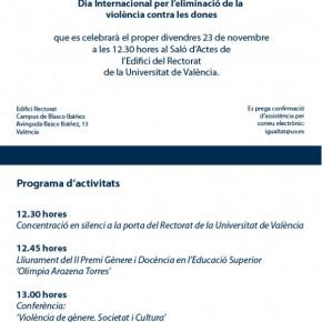 Día Internacional por la Eliminación de la Violencia contra las Mujeres en la Universdad de Valencia