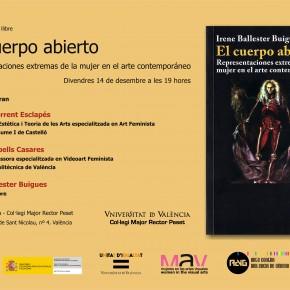Presentación del libro de Irene Ballester Buigues «El cuerpo abierto. Representaciones extremas de la mujer en el arte contemporáneo»