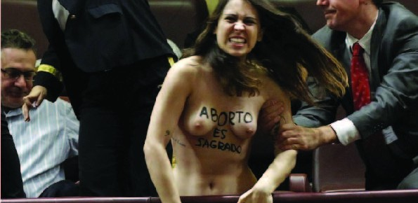FEMEN participará en las concentraciones del 25N para denunciar la violencia de género institucional