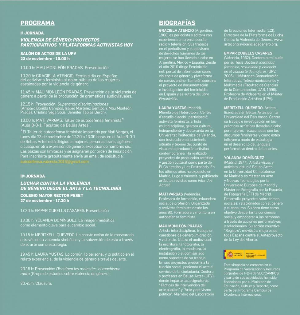 I Simposio sobre arte y activismo contra la violencia de genero2
