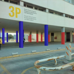 Arte urbano visibilizando el techo de cristal en la UPV. El Colectivo ArteyActivismoFem participa en POLINIZA DOS