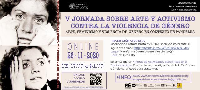 V JORNADA SOBRE ARTE Y ACTIVISMO CONTRA LA VIOLENCIA DE GÉNERO